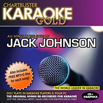 Chartbuster Karaoke Gold Series KGR13012 Jack Johnson CD + G