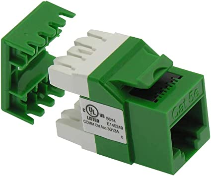 GOWOS Cat.5E RJ45 110 Type 180/° Keystone Jack White