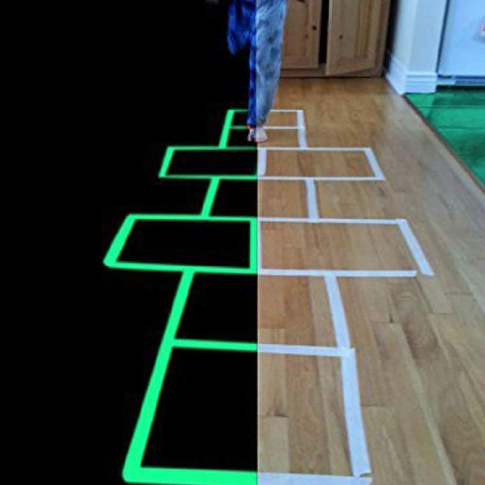 Gaocunh 1 cm, 3 m, 1,5 cm, 3 m, 3 m, 3 m, extra/íble, resistente al agua, fotoluminiscente que brilla en la oscuridad 1CM*3M 1 Cinta adhesiva luminosa