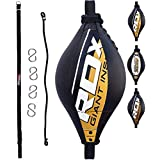 RDX Double End Speed Ball Maya Hide Leather Dodge Boxing Speed Bag Punching MMA Training Workout Floor to Ceiling Rope