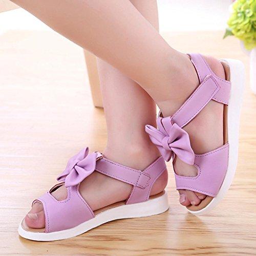 Xinan Lila Shoe Flower Big Sandalen Schuhe Pricness Flat Girls Baby Zz8WI5