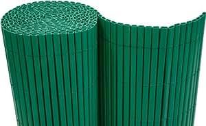 –Estera de PVC (100x 500cm Wind Protector para balcones Valla de jardín verde–Tubos