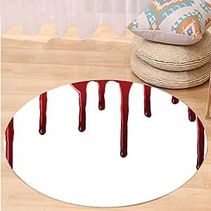 Kisscase Custom carpet Flowing Blood Horror Spooky Halloween Zombie Crime Scary Help me Themed Illustration Bedroom Living Room Dorm Decor Red White