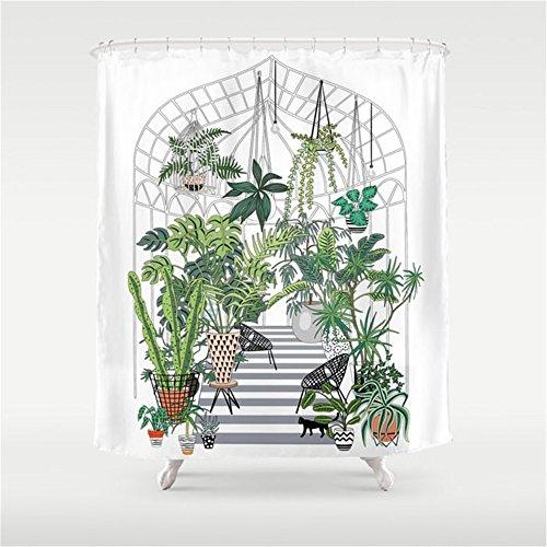 Weeya greenhouse illustration Shower Curtain 60x72 inch