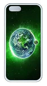 iPhone 5 5S Case Green Dream Space TPU Custom iPhone 5 5S Case Cover White