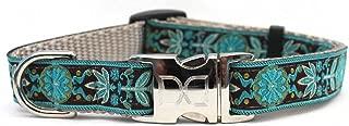 product image for Diva-Dog 'Boho Peacock' Custom Engraved Dog Collar