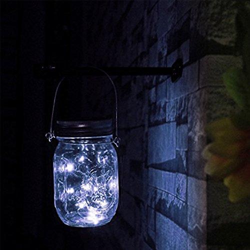 greendream 3 Pack Solar Mason tarro tapa Insertar(Mason Jar no incluido), 10 LED Solar - guirnalda de luz blanca cálida para - Tarros de cristal y ...