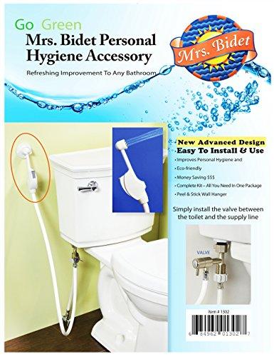 Mrs.Bidet White Spray Attachment For Toilet Complete Kit