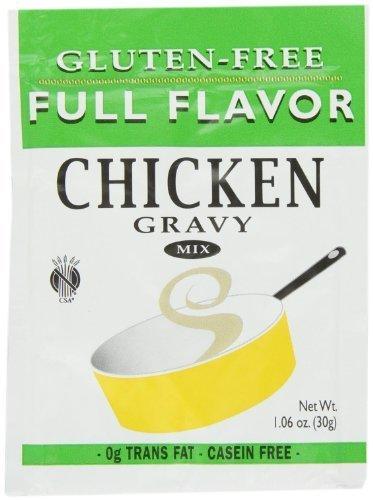 Full Flavor Foods: Gluten Free Chicken Gravy Mix 1.06 Oz (12 Pack)