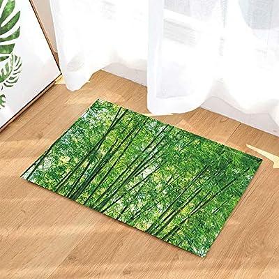 Planta verde Hojas de jardín Alfombras de baño Naturaleza Paisaje ...