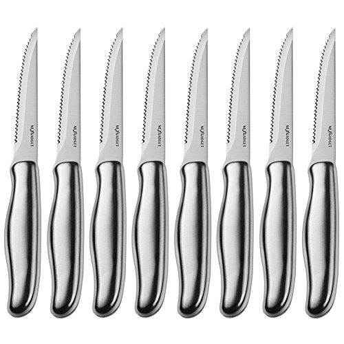 NEXGADGET Steak Knives Set,3CR13 Stainless Steel Steak Knife Set of 8 for Chefs Commercial Kitchen - Ideal For BBQ Weddings - Dinners - Parties All Homes & Kitchens