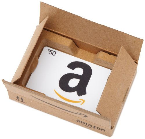 Amazon.com $50 Gift Card in a Mini Amazon Shipping Box (Classic White Card Design) (Amazon Promo Codes For Shipping)