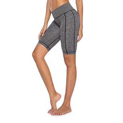 Amazon.com: Yucode Womens Short Yoga Side Pockets High ...