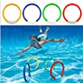 DKW-DDYY Underwater Swimming Diving Sinking Pool Toy Rings For Kid Children 4PCS/1 Set