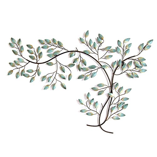 Stratton Home Decor Patina Tree Branch Wall Decor, Distressed Blue