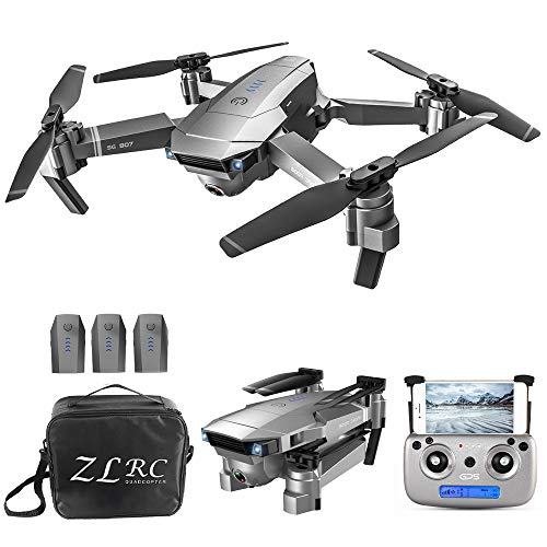 GoolRC SG907 GPS Drone, 5G WiFi FPV Foldable Drone with 4K HD Front Camera and 720P Optical Flow Positioning Camera…