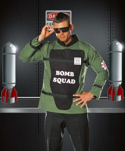Dreamgirl Men's Bombsquad Costume, Black, -