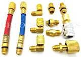 A/C Air Conditioning Refrigeration Charging AC Manifold Adapter Hoses Set