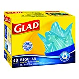 Glad Easy-Tie Regular Recycling Blue Bags, 40 ct.