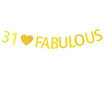 Amazon 31 Fabulous Banner For 31st Birthday Party Decorations