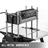 Mophorn Thickness Planer 12.5 inch Thickness Planer Woodworking 1800W Double Cutter Benchtop Thickness Planer with Free 1 Set Blade and Stand Heavy Duty Dust Exhaust for Woodworking