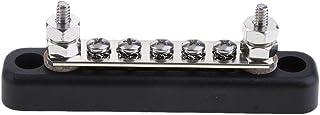 MagiDeal 12V/24V 5 Way Power Distribution Bus Bar 5x4mm Screws 100A Rated AUTO Marine