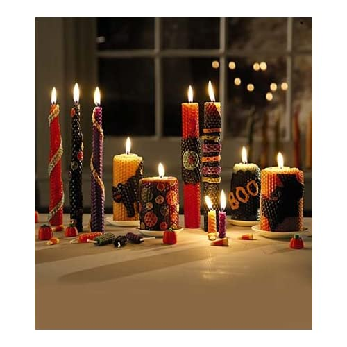 Autumn Homemade Beeswax Candle Rolling Kit big image