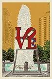 Philadelphia, Pennsylvania - Love Statue - Letterpress (12x18 Art Print, Wall Decor Travel Poster)