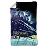 Edward Scissorhands 1990 Dark Romantic Fantasy Movie Snow Poster Fleece Blanket