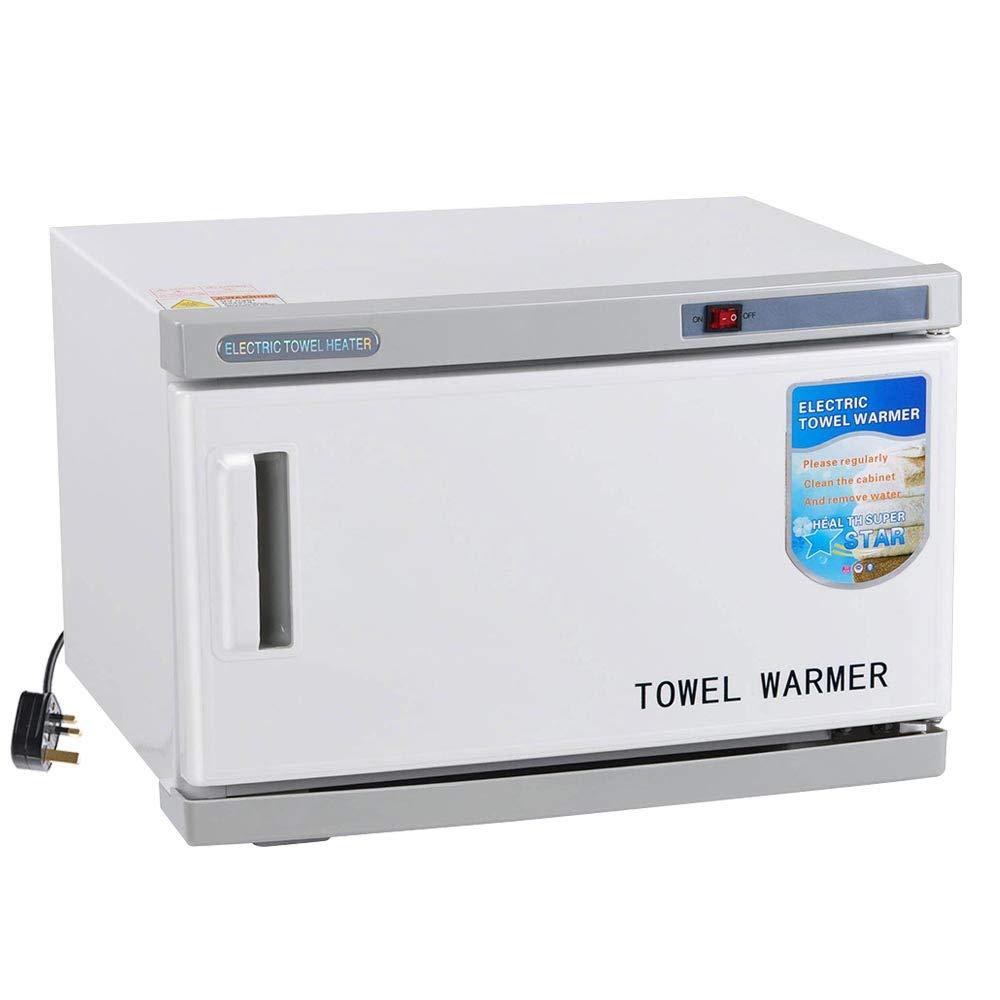 ZeHuoGe 16L Hot Electric Towel Warme for Salon Spa Massage UV Tool Sterilizer Cabinet 250W Micro Computer Control Temperature 30-40pcs Capacity Removable Tray