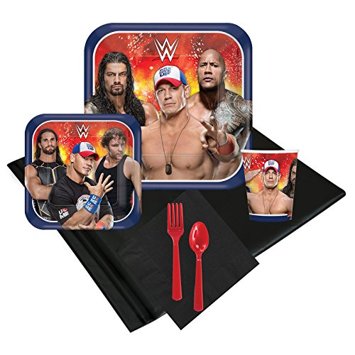 WWE Never Give Up 16 Guest Party Pack by BirthdayExpress