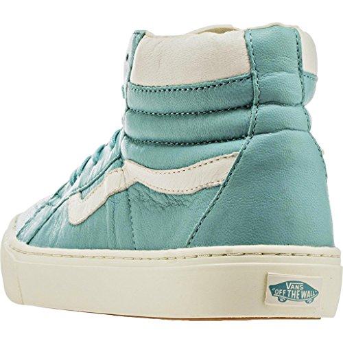 Vans Womens Sk8 Hi Cup Hight Top Lace Up Fashion Sneakers (in Pelle) Aqua Sea