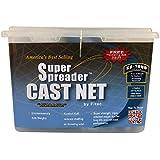 """Fitec SS1000 Super Spreader Cast Net Clear 5' radius, 1/4"""" mesh, 1 Lb wts"""