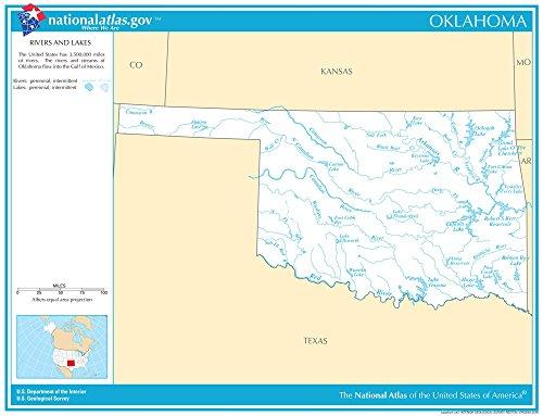 Map Poster - Oklahoma Rivers & Lakes 11