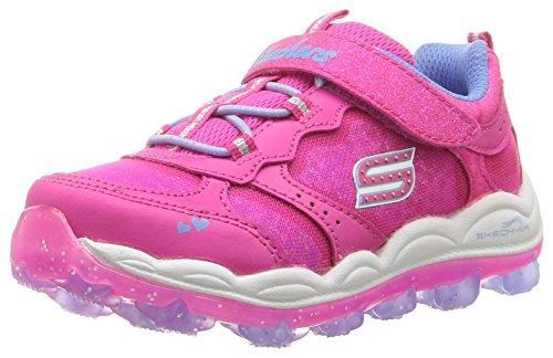Skechers Kids Girls' Skech-Air Stardust Running Shoe, Periwinkle Neon Pink, 7 M US Toddler