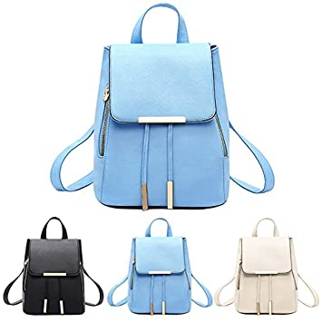 Amazon.com: Fashion School Top-Handle Backpack Girls Bags Women PU Leather Mochila Escolar for Teenagers Ruckback: Kitchen & Dining