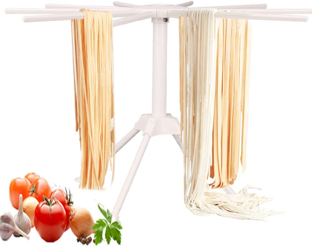 Pasta Drying Rack,Delaman Noodle Spaghetti Pasta Drying Rack Stand Dryer Foldable Kitchen Tool Kitchen Accessories White
