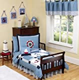 Come Sail Away Nautical Toddler Boy Bedding 5 Piece Set