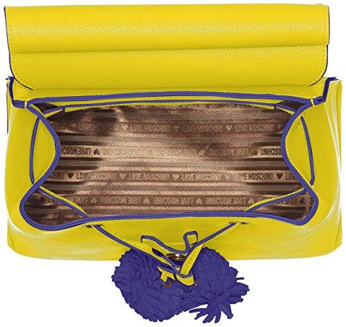 Love Moschino Borsa Small Grain Pu Giallo - Borse a zainetto Donna, (Yellow), 15x30x32 cm (B x H T)
