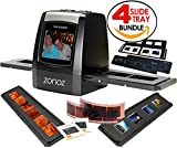 zonoz FS-ONE 22MP Ultra High-Resolution 35mm Negative Film & Slide Digital Converter Scanner w/ TV Cable, (1) Negative Tray, (4) Slide Trays & Worldwide Voltage 110V/240V AC Adapter (Bundle)