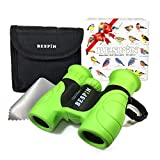 Kids Binoculars, BESPIN 8x21 HD Vision Compact Binoculars for Kids, Bird Watching, Hunting, Travel, Outdoor Toy,Birthday Gift, Kid Explore Set for Boys and Girls - Shock Proof - High Powered Prism