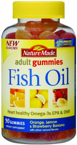 Nature Made huile de poisson adulte Gummies, 90 Count