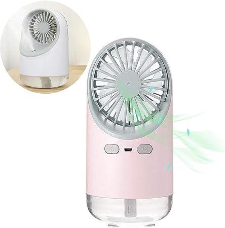HAMKAW - Mini ventilador portátil de agua pulverizada, 3 en 1 ...