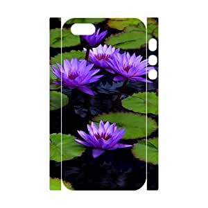 3D Bumper Plastic Customized Case Of Water Lily for iPhone 5,5S by icecream design