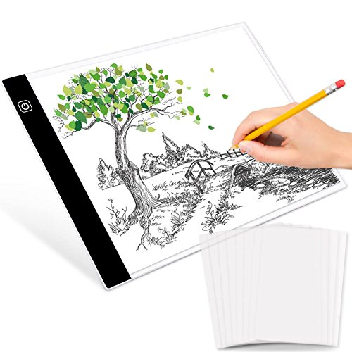 selizo A4 LED Light Box Tracer with 50Pcs Tracing Paper USB Powered Light Pad for Artists Artcraft Drawing Sketching Animation Designing Stencilling X-Ray Viewing by selizo