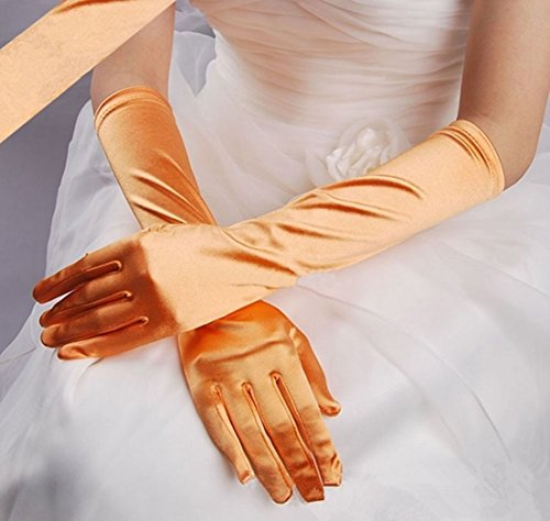 [1 Set (1-Pair) Superior Popular Hot Lady Long Satin Glove Girl Prom Bridal Gift Easy to Wash Color] (Billiard Girl Costume)