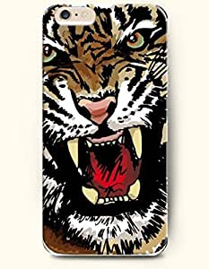 Case Cover For Apple Iphone 4/4S Tiger Howling fiercely