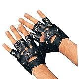 Rubie's Costume Studded Gloves, Black, Adult