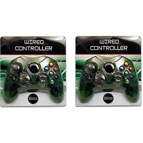 Video Game Accessories 2 LOT NEW Green Controller Control Pad for Original Microsoft XBOX X System