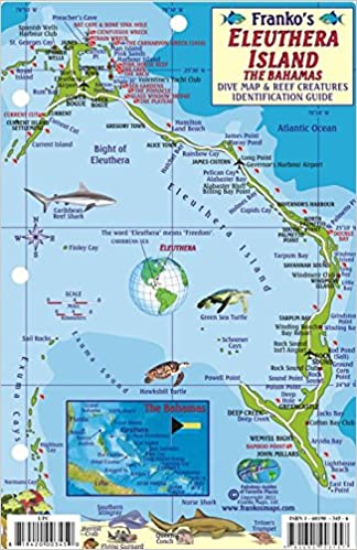 Eleuthera Island Bahamas Dive Map & Reef Creatures Guide Franko Maps ...